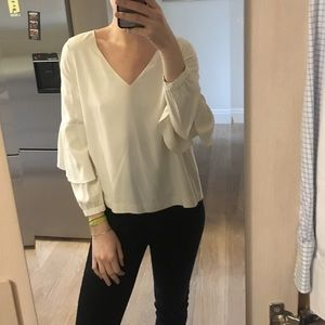 Club Monaco white silk blouse